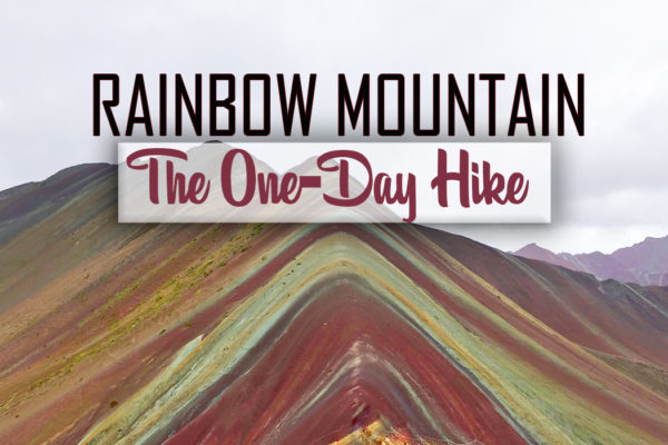 Rainbow Mountain Vinicunca Peru